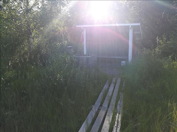 Vindskyddet sett från bryggan