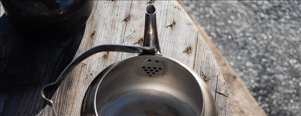 Hällmarks tre-liters kaffepanna invändigt