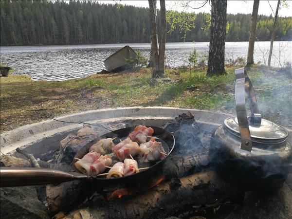 Musslor i bacon vid Gårdsjön